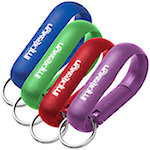 Wide Aluminum Carabiner With Key Ring